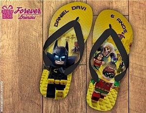 Chinelo De Aniversário Robin e Batman Lego