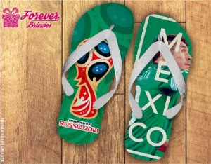 Chinelo Copa Do Mundo Seleção Mexicana