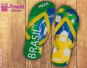 Chinelo Copa Da Russia Cores do Brasil