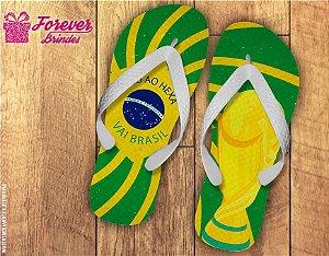 Chinelo Copa Do Mundo Vai Brasil