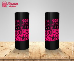 Copo Long Drink Princesa Rock Star
