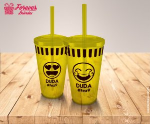 Copo Twister Aniversário Infantil Emoji