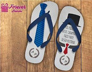 Chinelo casamento gravata do padrinho