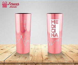 Copo Long Drink Metalizado Medicina Rio De Janeiro