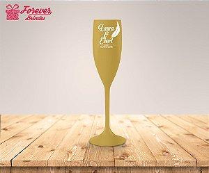 Taça De Champanhe De Casamento Com Pena