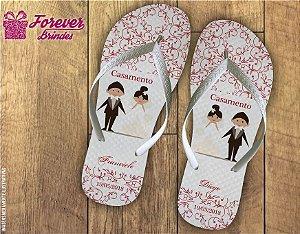 chinelo casamento personalizado de noivos