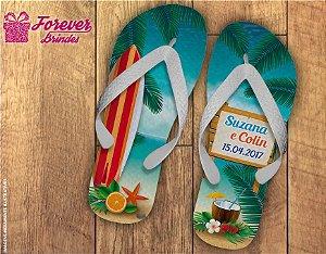 Chinelo Casamento Surf Luau