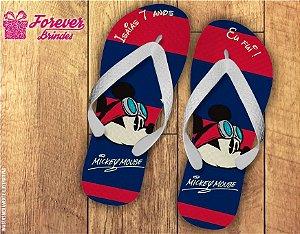 Chinelo Aniversário Mickey Aviador