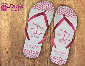 Chinelo Formatura Direito balança cor de rosa