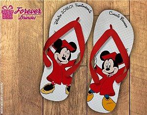 Chinelo Formatura Direito Minnie e Mickey