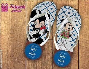 Chinelo De Casamento Amor Mickey e Minnie