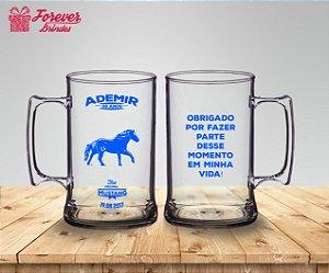 Caneca De Chopp Aniversário Tema Cavalo