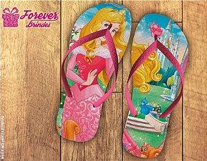 Chinelo Personalizado Aniversário Princesa Aurora
