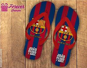 Chinelo personalizado time de futebol barcelona