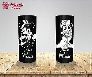 Copo Long Drink Casamento Noivos Mickey e Minnie