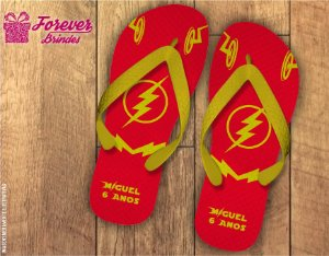 Chinelo Personalizado Aniversário The Flash