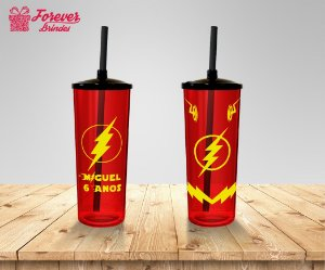 Copo Long Drink Aniversário The Flash
