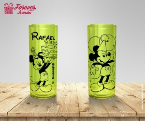 Copo Long Drink Festa Aniversário Tema Mickey