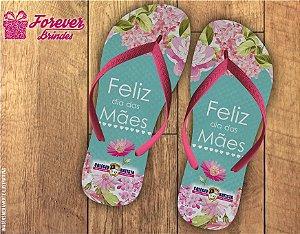 Chinelo Dia Das Mães com flores