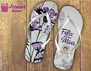 Chinelo Dia Das Mães flor iris