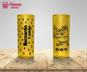Copo Long Drink Desenho Galinha Pintadinha
