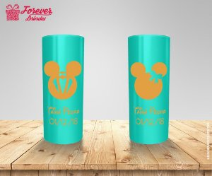 Copo Long Drink Casamento Mickey e Minnie