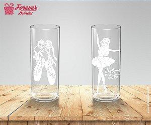 Copo Long Drink Sapatilhas e Bailarina