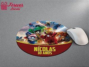 Mouse Pad Redondo Os Vingadores