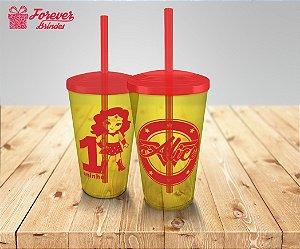 Copo Twister Festa Infantil Mulher Maravilha