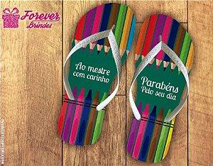 Chinelo Dia Dos Professores Lápis Coloridos