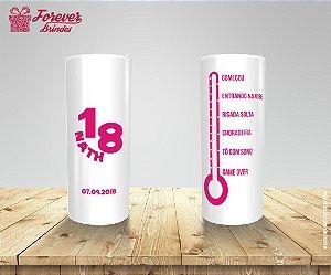 Copo Long Drink Aniversário Termômetro