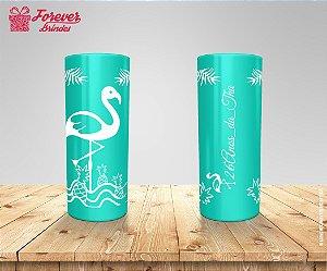 Copo Long Drink Festa Flamingo Tropical