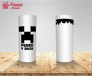 Copo Long Drink Personalizado Aniversário Minecraft