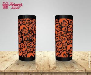 Copo Long Drink Halloween Com Caveiras