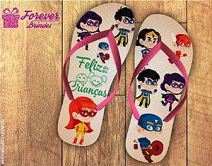Chinelo Dia Das Crianças Super Hérois
