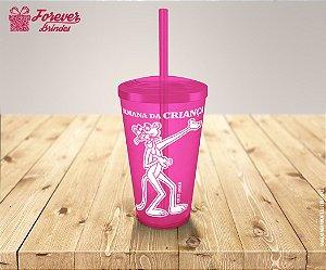 Copo Twister Dia Das Crianças Pantera Cor De Rosa