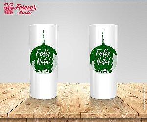 Copo Long Drink Feliz Natal Verde