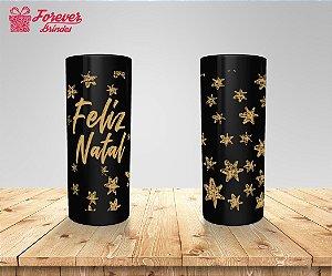 Copo Long Drink Feliz Natal Com Estrelas
