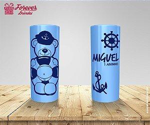 Copo Long Drink Urso Marinheiro Azul