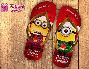 Chinelo De Natal Personalizado Minions