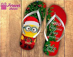 Chinelo Personalizado De Natal Minions