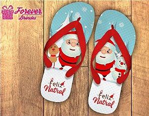 Chinelo De Natal Papai Noel e Neve