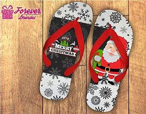 Chinelo De Natal Personalizado Flocos De Neve