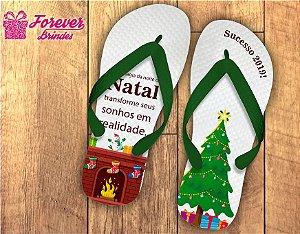 Chinelo De Natal Personalizado Com Frase