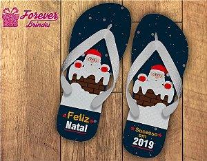 Chinelo De Natal Papai Noel Na Chaminé