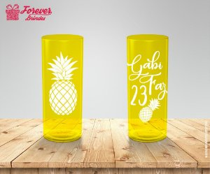 Copo Long Drink Festa Aniversário Abacaxi