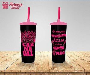 Copo Long Drink Carnaval Rosa e Preto