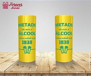 Copo Long Drink Amarelo de Carnaval