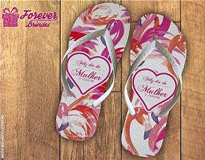 Chinelo Dia da Mulher Flamingo