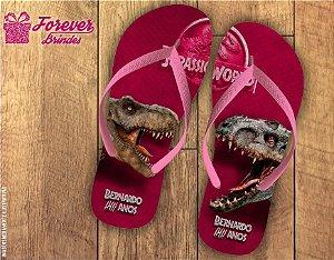Chinelo Aniversário Personalizado Dinossauro